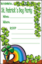 Printable St Patrick's Day Invitation