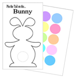 graphic about Pin the Tail on the Bunny Printable named Easter Occasion Guidelines